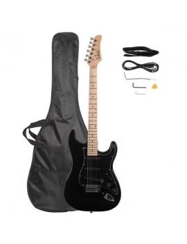 Glarry GST Stylish Electric Guitar Kit with Black Pickguard Black