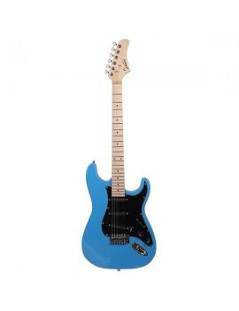 Glarry GST Stylish Electric Guitar Kit with Black Pickguard Sky Blue