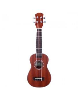 "Glarry UK203 21"" Exquisite Matte Soprano Ukulele with Rosewood Fingerboard Natural Color"