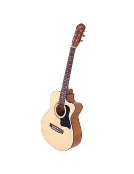 [US-W]Glarry GT304 38 inch Spruce Front Cutaway Folk Guitar with Bag & Board & Wrench Tool Glossy Edge Bur