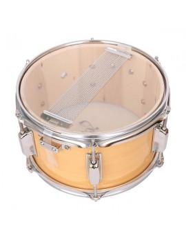 "Glarry 10 x 6"" Snare Drum Poplar Wood Drum Percussion Set Wood Color"