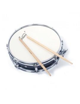 Glarry 13x3.5 Inch Professional Snare Drum Drumsticks Drum Key Strap Set Black