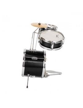 "Glarry 13""x8"" 3-Pieces Junior Kids Child Drum Set Kit Pedal Drum Stick Wrench Drum Stool Black"