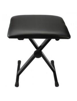 Glarry Adjustable Folding Piano Bench Stool Seat Black