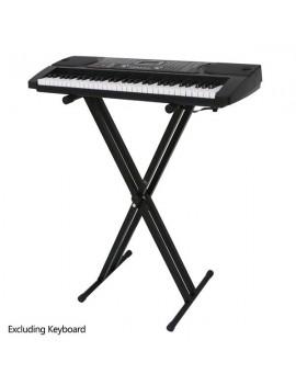 [US-W]Glarry Dual-tube X-Shape Keyboard Stand Black