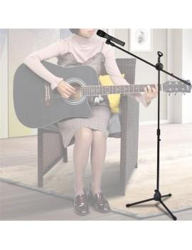 Glarry FS-002 Folding Type Tripod Boom Microphone Mic Stand Black